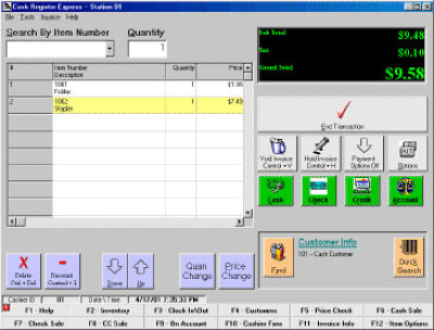 Cash Register Express Cash Register Express POS Software